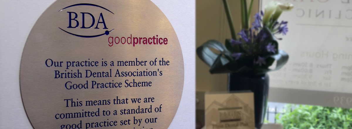 BDA good practice plaque