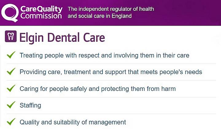 CQC rating Elgin Dental Care