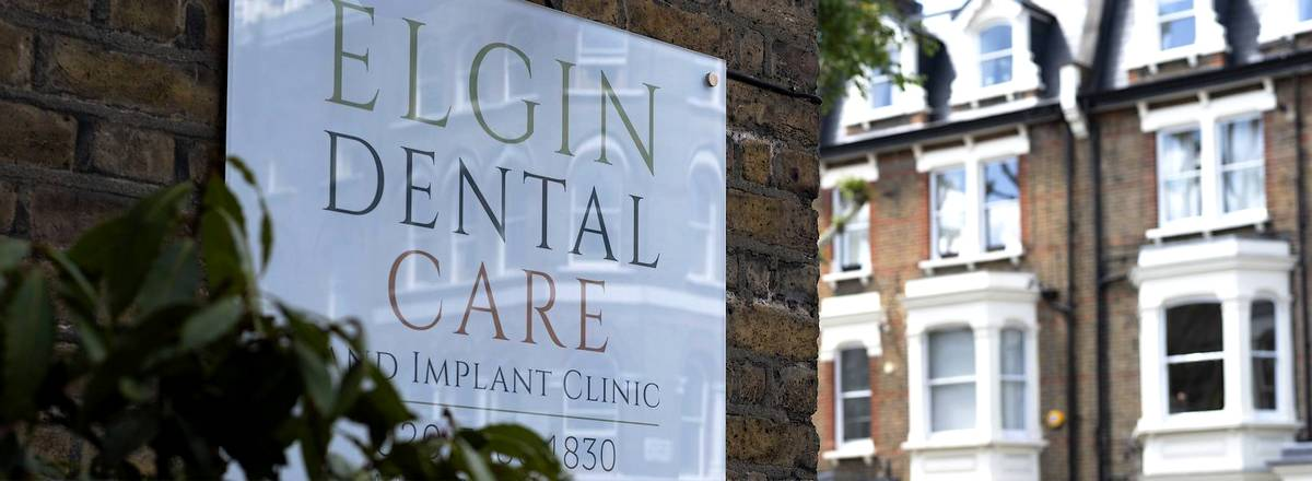 Sign for Elgin Dental Practice