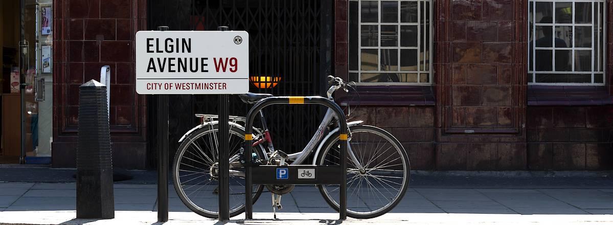 Bicycle in Elgin avenue London W9